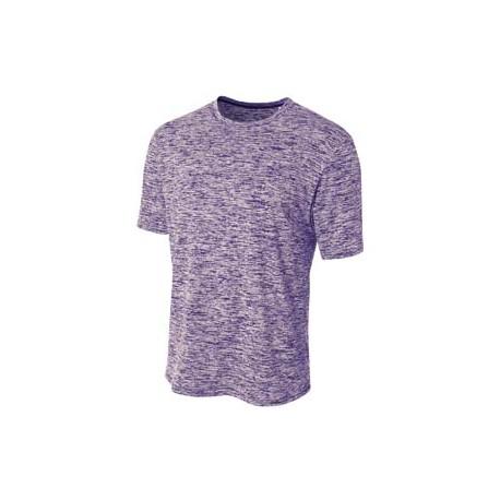 N3296 A4 N3296 Men's Space Dye T-Shirt PURPLE