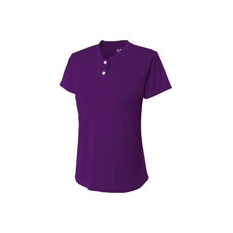 NW3143 A4 NW3143 Ladies' Tek 2-Button Henley Shirt PURPLE