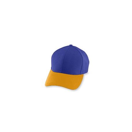 6236 Augusta Sportswear 6236 Youth Athletic Mesh Cap PURPLE/GOLD