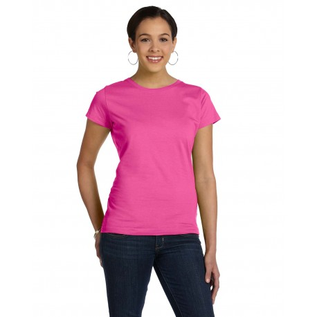 3516 LAT 3516 Ladies' Fine Jersey T-Shirt RASPBERRY