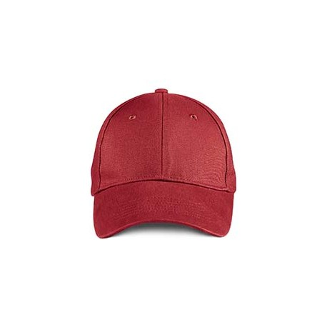 136 Anvil 136 Solid Brushed Twill Cap RED