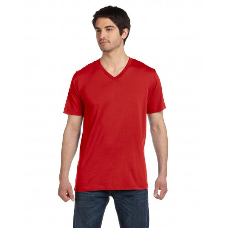 3005 Bella + Canvas 3005 Unisex Jersey Short-Sleeve V-Neck T-Shirt RED