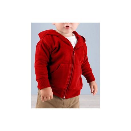 3446 Rabbit Skins 3446 Infant Zip Fleece Hoodie RED