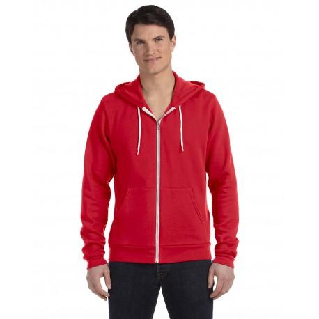 3739 Bella + Canvas 3739 Unisex Poly-Cotton Fleece Full-Zip Hoodie RED