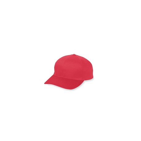 6206 Augusta Sportswear 6206 Youth 6-Panel Cotton Twill Low Profile Cap RED