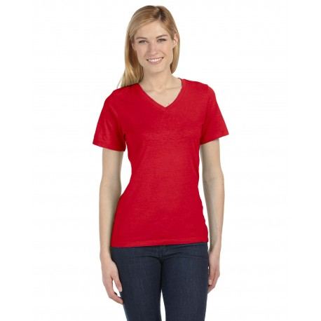 6405 Bella + Canvas 6405 Ladies' Relaxed Jersey Short-Sleeve V-Neck T-Shirt RED