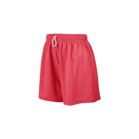 AG960 Augusta Sportswear AG960 Ladies' Wicking Mesh Short RED