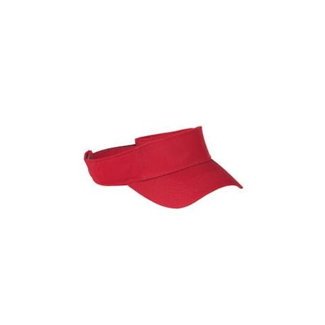 BX006 Big Accessories BX006 Cotton Twill Visor RED