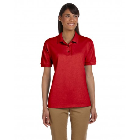 G380L Gildan G380L Ladies' Ultra Cotton Ladies' 6.3 oz. Pique Polo RED