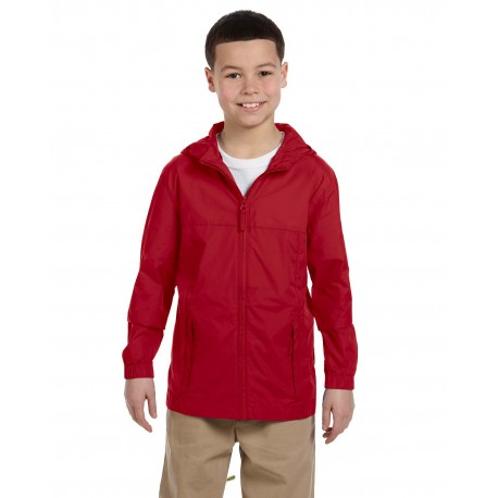 M765Y Harriton M765Y Youth Essential Rainwear RED