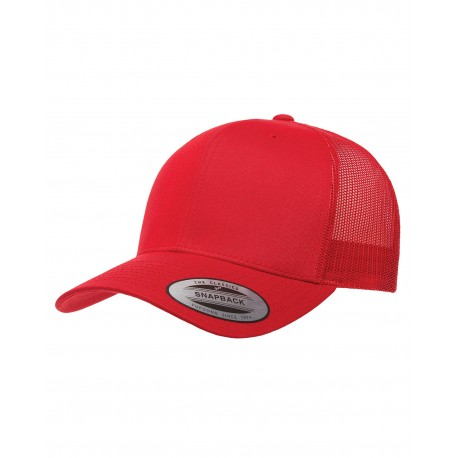 6606 Yupoong 6606 Adult Retro Trucker Cap RED