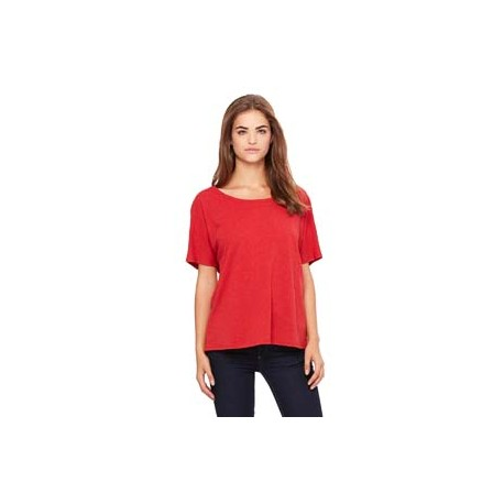 8816 Bella + Canvas 8816 Ladies' Slouchy T-Shirt RED SPECKLED
