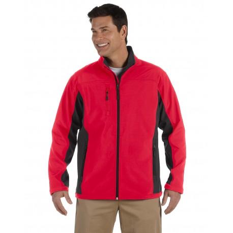 D997 Devon & Jones D997 Men's Soft Shell Colorblock Jacket RED/DK CHARCOAL