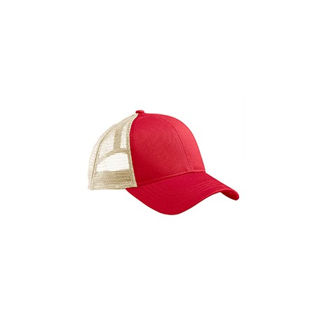 EC7070 Econscious EC7070 Eco Trucker Organic/Recycled Hat RED/OYSTER