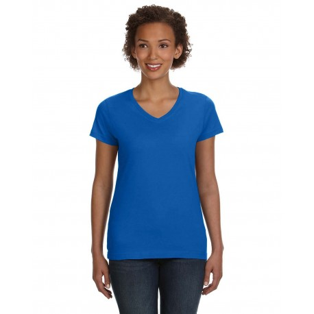 3507 LAT 3507 Ladies' V-Neck Fine Jersey T-Shirt ROYAL