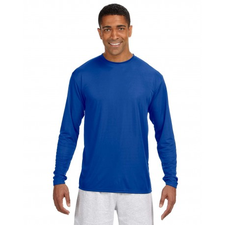 N3165 A4 N3165 Men's Long-Sleeve Cooling Performance Crew ROYAL