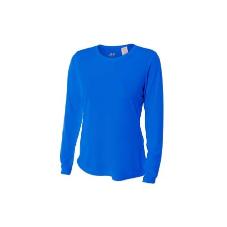 NW3002 A4 NW3002 Ladies' Long Sleeve Cooling Performance Crew Shirt ROYAL