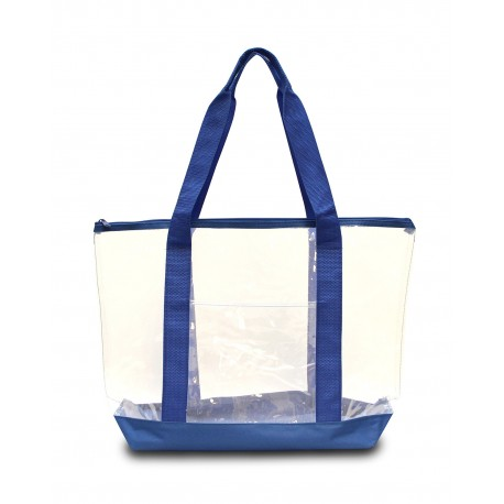 7009 Liberty Bags 7009 Large Clear Tote ROYAL