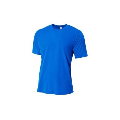 N3264 A4 N3264 Men's Shorts Sleeve Spun Poly T-Shirt ROYAL