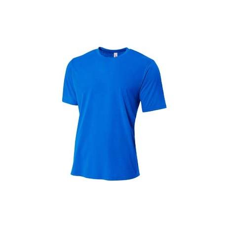 NB3264 A4 NB3264 Youth Shorts Sleeve Spun Poly T-Shirt ROYAL