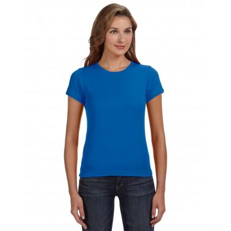 1441 Anvil 1441 Ladies' 1x1 Baby Rib Scoop T-Shirt ROYAL BLUE
