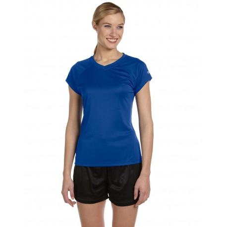CW23 Champion CW23 Ladies' 4.1 oz. Double Dry V-Neck T-Shirt ROYAL BLUE