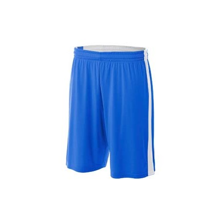 NB5284 A4 NB5284 Youth Reversible Moisture Management Shorts ROYAL/WHITE