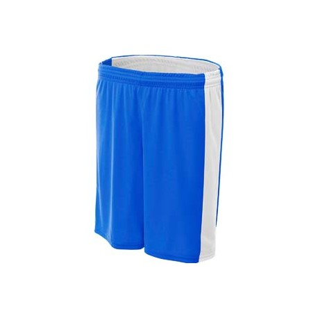 NW5284 A4 NW5284 Ladies' Reversible Moisture Management Shorts ROYAL/WHITE