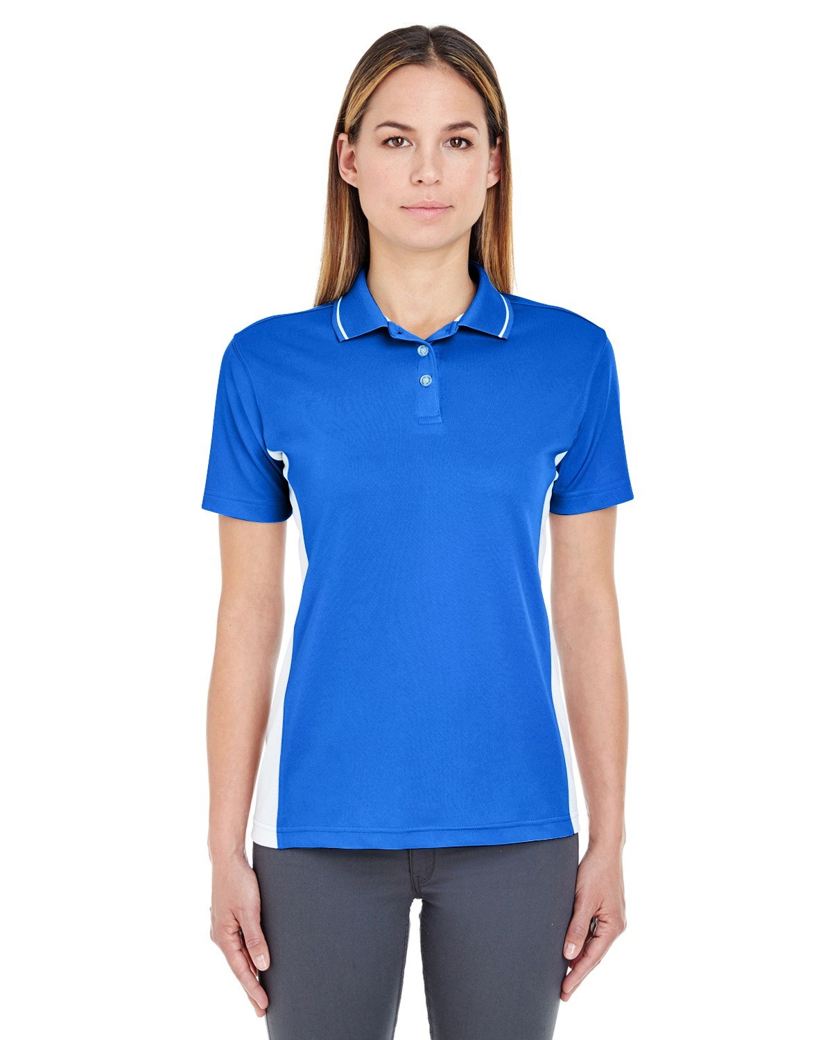 Ultraclub 8406l Ladies Cool Amp Dry Sport Two Tone Polo