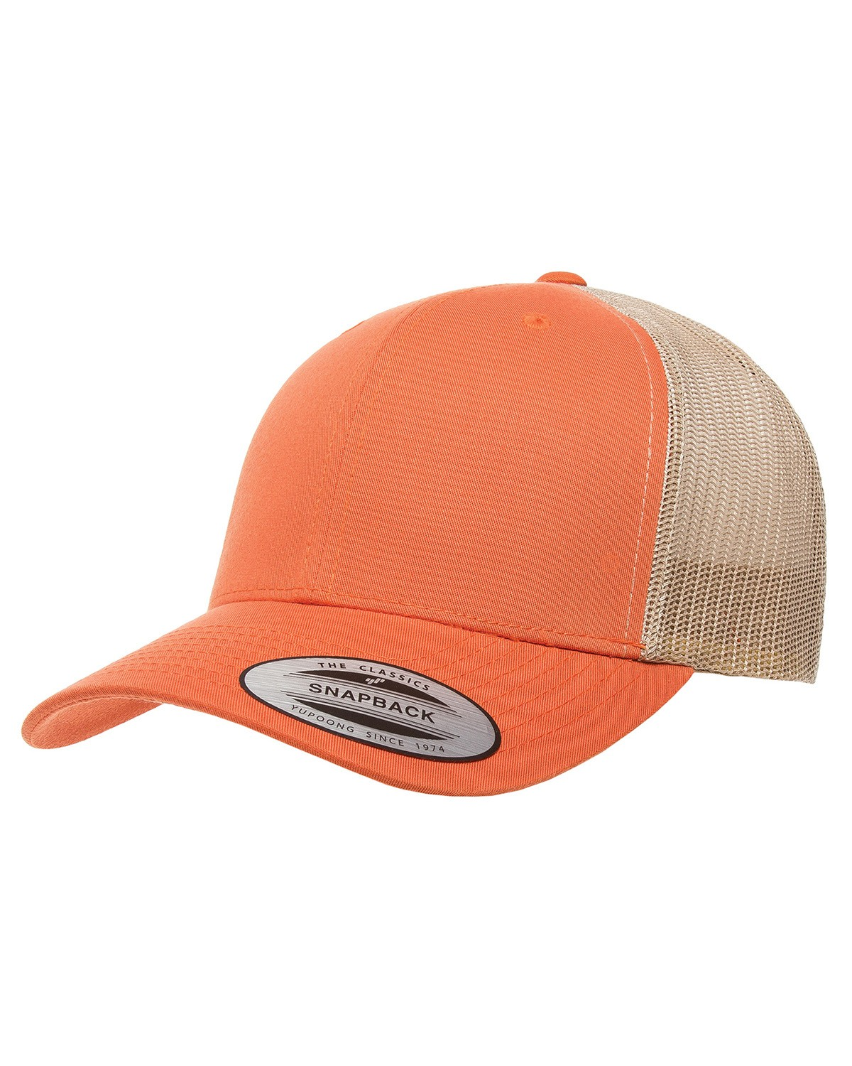 6606 Yupoong RUST ORANGE/KHAKI