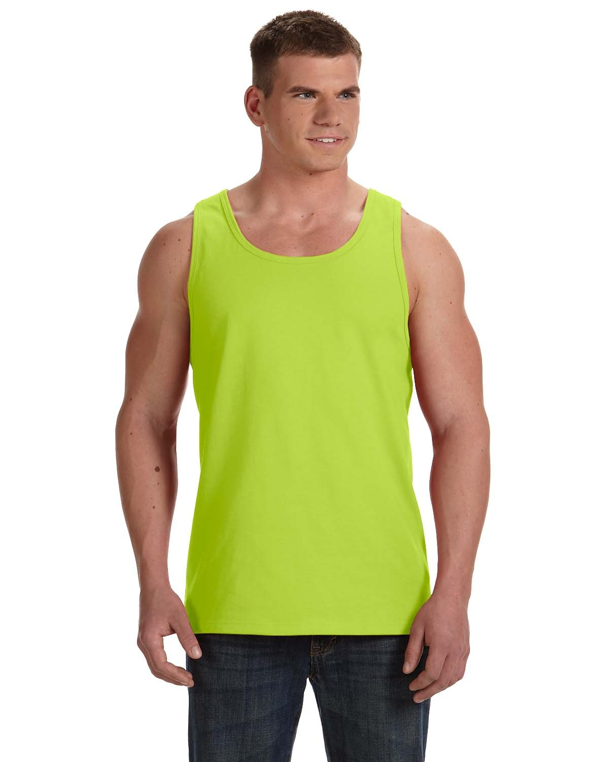 39TKR Fruit of the Loom SAFETY GREEN