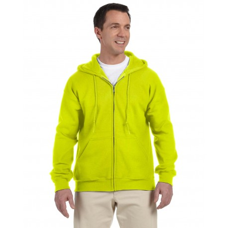 G126 Gildan G126 Adult DryBlend Adult 9 oz., 50/50 Full-Zip Hood SAFETY GREEN