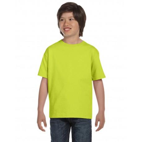 G800B Gildan G800B Youth 5.5 oz., 50/50 T-Shirt SAFETY GREEN