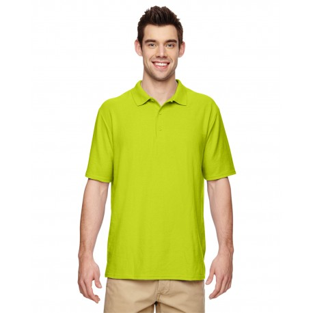 G728 Gildan G728 Adult 6 oz. Double Pique Polo SAFETY GREEN