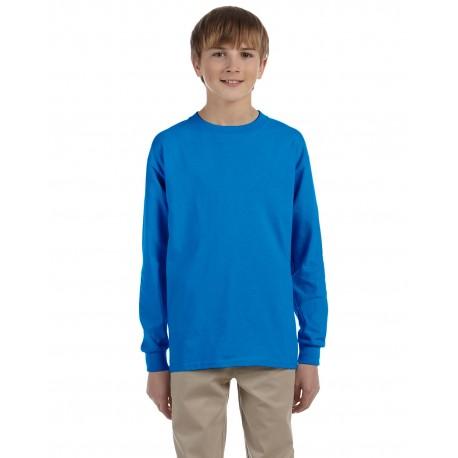 G240B Gildan G240B Youth Ultra Cotton 6 oz. Long-Sleeve T-Shirt SAPPHIRE