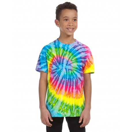 CD100Y Tie-Dye CD100Y Youth 5.4 oz., 100% Cotton Tie-Dyed T-Shirt SATURN