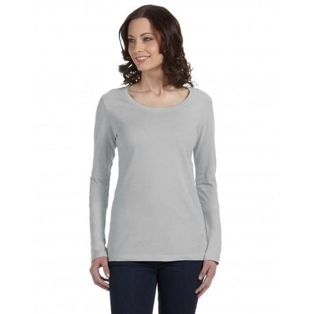 399 Anvil 399 Ladies' Featherweight Long-Sleeve Scoop T-Shirt SILVER
