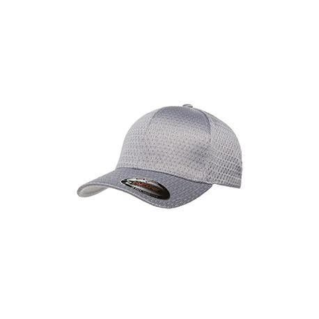 6777 Flexfit 6777 Adult Athletic Mesh Cap SILVER