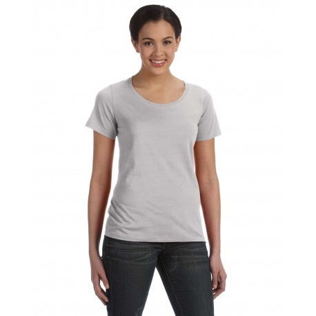 391A Anvil 391A Ladies' Featherweight Scoop T-Shirt SILVER
