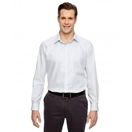 88690 North End 88690 Men's Precise Wrinkle-Free Two-Ply 80's Cotton Dobby Taped Shirt SILVER 674
