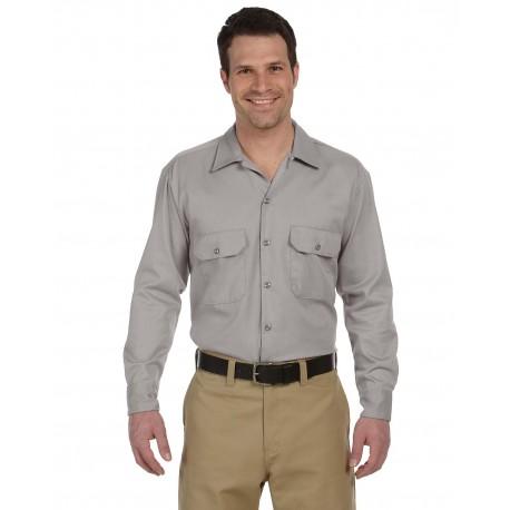 574 Dickies 574 Unisex Long-Sleeve Work Shirt SILVER GRAY