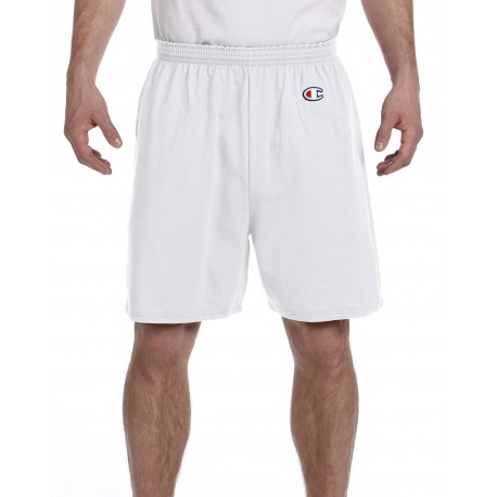 8187 Champion 8187 Adult Cotton Gym Short SILVER GRAY