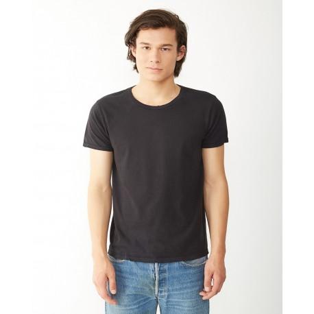 04850C1 Alternative 04850C1 Men's Heritage Garment-Dyed Distressed T-Shirt SMOKE