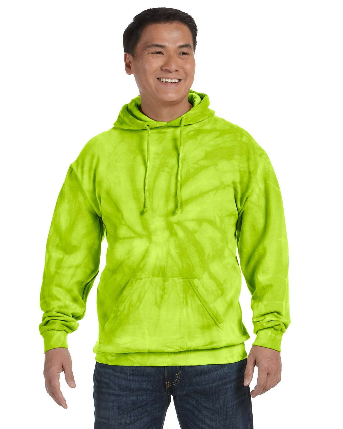 CD877 Tie-Dye SPIDER LIME