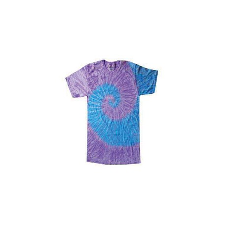CD100Y Tie-Dye CD100Y Youth 5.4 oz., 100% Cotton Tie-Dyed T-Shirt SPIRAL LAV BLUE