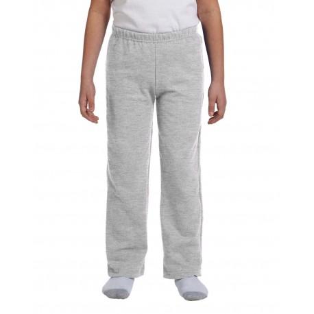 G184B Gildan G184B Youth Heavy Blend 8 oz., 50/50 Open-Bottom Sweatpants SPORT GREY