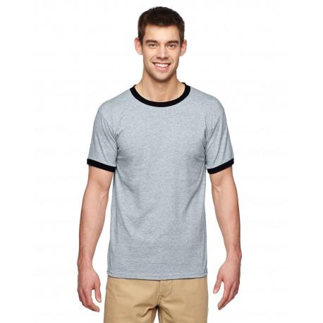 G860 Gildan G860 Adult 5.5 oz. Ringer T-Shirt SPORT GREY/BLK