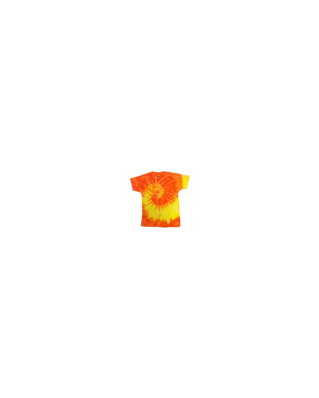 CD100Y Tie-Dye SPRAL YLLW/ORNG