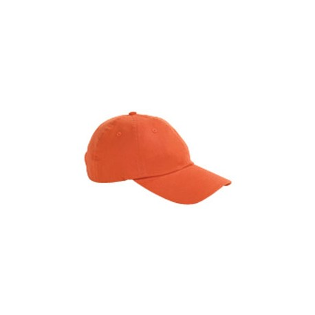 BX001 Big Accessories BX001 6-Panel Brushed Twill Unstructured Cap TANGERINE