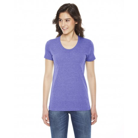 TR301W American Apparel TR301W Ladies' Triblend Short-Sleeve Track T-Shirt TRI ORCHID